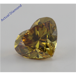 Heart Cut Loose Diamond (0.81 Ct, Natural Fancy Deep Brownish Yellow, SI3) GIA Certified