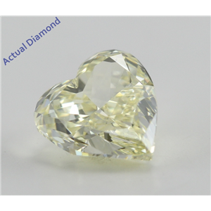 Heart Cut Loose Diamond (0.79 Ct, Natural Fancy Light Yellow, VS1) GIA Certified