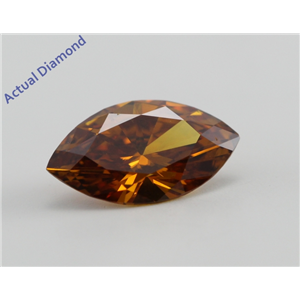 Marquise Cut Loose Diamond (0.63 Ct, Natural Fancy Deep Brownish Yellowish Orange, VS2) GIA Certified