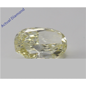 Oval Cut Loose Diamond (0.76 Ct, Natural Fancy Light Yellow, VS1) GIA Certified