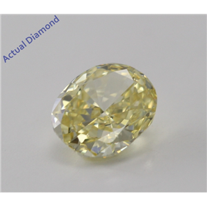 Oval Cut Loose Diamond (0.64 Ct, Natural Fancy Intense Yellow, VS1) GIA Certified