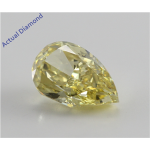 Pear Cut Loose Diamond (1.14 Ct, Natural Fancy Intense Yellow, SI1) GIA Certified
