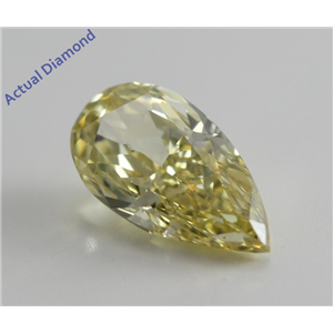 Pear Cut Loose Diamond (1.14 Ct, Natural Fancy Intense Yellow, SI2) GIA Certified