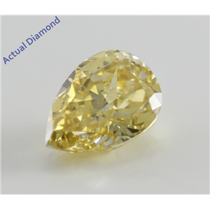 Pear Cut Loose Diamond (1.1 Ct, Natural Fancy Deep Yellow, SI1) GIA Certified