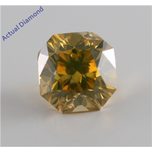 Radiant Cut Loose Diamond (1.71 Ct, Natural Fancy Deep Brownish Yellow, SI2) GIA Certified