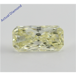 Radiant Cut Loose Diamond (0.75 Ct, Natural Fancy Light Yellow, VS2) GIA Certified