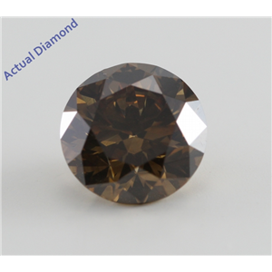 Round Cut Loose Diamond (2.14 Ct, Natural Fancy Dark Yellowish Brown, SI2) GIA Certified