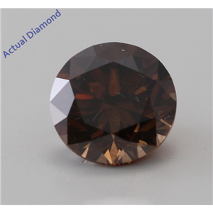 Round Cut Loose Diamond (0.68 Ct, Natural Fancy Dark Orange Brown, VS2) GIA Certified