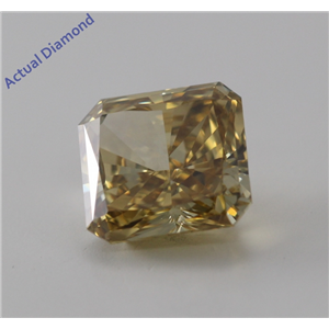Radiant Cut Loose Diamond (1.44 Ct, Fancy Deep Brownish Yellow, VS1) GIA Certified