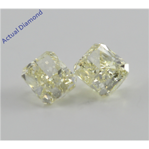 A Pair of Radiant Cut Loose Diamonds (1.08 Ct, Natural Fancy Light Yellow ,VS1)