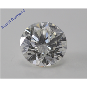 Round Cut Loose Diamond (1.06 Ct, G, SI2) DGI Certified