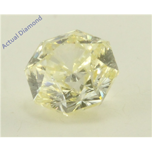 Octagonal Cut Loose Diamond (1.57 Ct, Y -Z Yellow Color, SI1 Clarity) GIA Certified