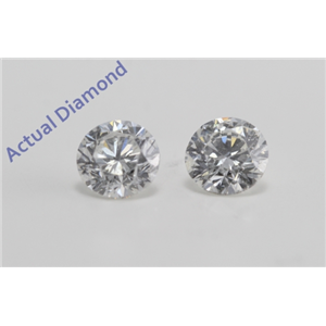 A Pair of Round Cut Loose Diamonds (1.02 ct Ct, H Color, SI2 Clarity)