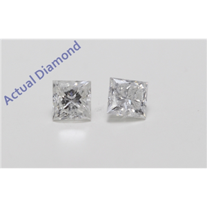 A Pair of Princess Cut Loose Diamonds (1.04 ct Ct, H Color, I1 Clarity)