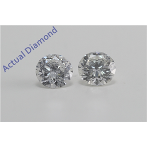 A Pair of Round Cut Loose Diamonds (1.45 ct Ct, G Color, SI2 Clarity) IGL Certified