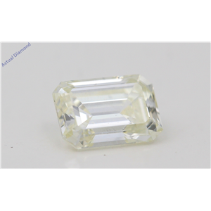 Emerald Cut Loose Diamond (0.79 Ct,Natural Fancy Light Yellow Color,Vvs2 Clarity) Igl Certified