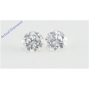 A Pair of Round Cut Loose Diamonds (0.46 Ct, F Color, VS2 Clarity)