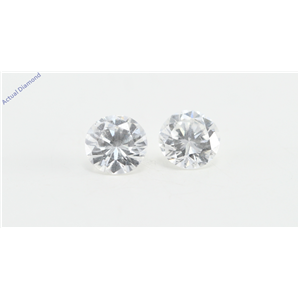 A Pair of Round Cut Loose Diamonds (0.45 Ct, F Color, VS2 Clarity)
