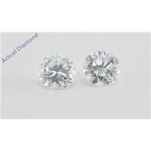 A Pair of Round Cut Loose Diamonds (0.48 Ct, F Color, VS1 Clarity)