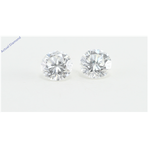 A Pair of Round Cut Loose Diamonds (0.51 Ct, F Color, VS2 Clarity)