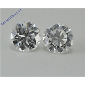 A Pair of Round Cut Loose Diamonds (1.04 Ct, F-G Color, SI1-SI2 Clarity) GIA Certified
