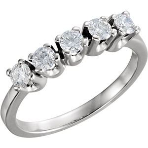 Round Diamond Solitaire Engagement Ring 14k White Gold 1.23 Ct, (F Color, VS Clarity)