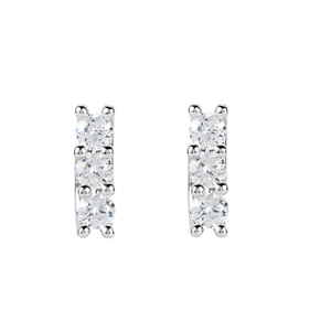 Round Diamond Stud Earrings 14k White Gold (1.46 Ct, F Color, VS2 Clarity)