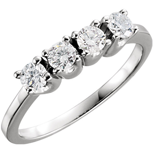 Round Diamond Solitaire Engagement Ring 14k White Gold 1.02 Ct, (F Color, VS Clarity)
