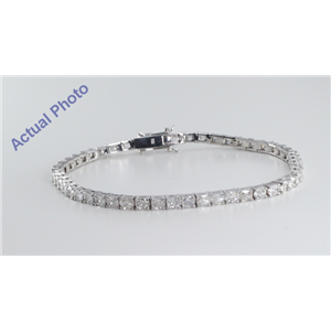 18k White Gold Radiant Cut Diamond Tennis Bracelet (5.95 Ct, G Color, SI2 Clarity)