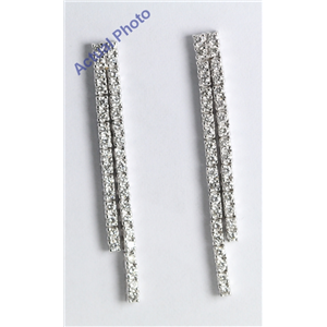 18k White Gold Round Cut Diamond Pave Earrings (0.79 Ct, G Color, VS Clarity)