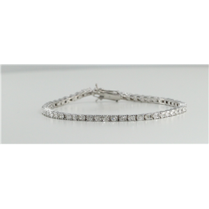 18k White Gold Radiant Cut Diamond Tennis Bracelet (4.73 Ct, G-H Color, VS Clarity)