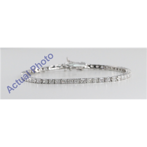 18k White Gold Radiant Cut Diamond Tennis Bracelet (4.71 Ct, G-H Color, VS-SI Clarity)
