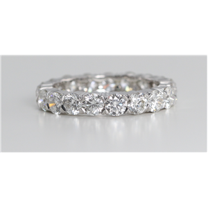 18k White Gold Round Cut Multi Stone Diamond Eternity Band (3.03 Ct, G Color, VS Clarity)
