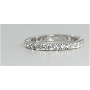 18k White Gold Round Cut Multi Stone Diamond Eternity Band (1.36 Ct, G Color, VS Clarity)
