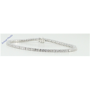18k White Gold Round Cut Diamond Invisible Setting Diamonds Bracelet (11.25 Ct, G Color, vs Clarity)