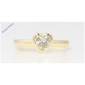 18k Yellow Gold Pear Diamond Two-Stone Invisible Setting Framed Heart Shaped Ring (0.52 Ct I-J VS Clarity)