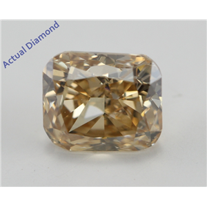 Radiant Cut Loose Diamond (1.05 Ct, Natural Fancy Deep Orange Brown Color, SI1 Clarity) IGI Certified