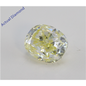 Oval Cut Loose Diamond (0.62 Ct, Natural Fancy Yellow Color, SI2 Clarity) IGI Certified