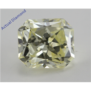 Cushion Cut Loose Diamond (1.03 Ct, Natural Fancy Light Yellow Color, SI2 Clarity) IGI Certified