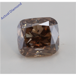 Radiant Cut Loose Diamond (1.01 Ct, Natural Fancy Deep Brown Color, SI2 Clarity) IGI Certified