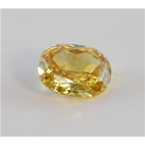 Cushion Cut Loose Diamond (0.38 Ct, Natural Fancy Vivid Orange Yellow Color, VS2 Clarity) GIA Certified