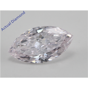 Marquise Cut Loose Diamond (0.6 Ct, Natural Light Pink Color, SI2 Clarity) GIA Certified