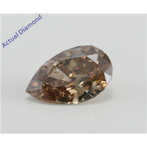 Pear Cut Loose Diamond (1 Ct, Natural brown loose diamond Color, I1 Clarity)