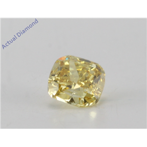 Cushion Cut Loose Diamond (0.36 Ct, Natural fancy intense yellow Color, vs2 Clarity) IGL Certified