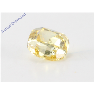 Cushion Cut Loose Diamond (0.43 Ct, Natural fancy intense yellow Color, vs1 Clarity) IGL Certified