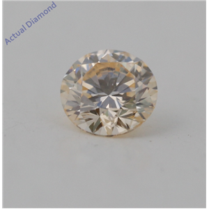 Round Cut Loose Diamond (0.42 Ct, Natural Fancy Light Yellow Orange Color, SI2 Clarity) GIA Certified