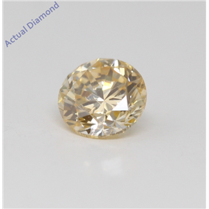 Round Cut Loose Diamond (0.3 Ct, Natural Fancy Orangy Yellow Color, SI2 Clarity) GIA Certified