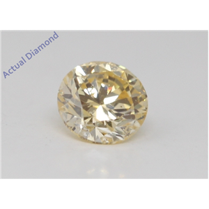 Round Cut Loose Diamond (0.3 Ct, Natural Fancy Light Yellow Orange Color, SI2 Clarity) GIA Certified