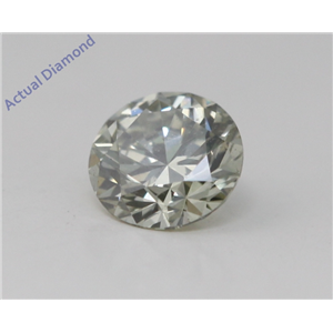 Round Cut Loose Diamond (0.34 Ct, Natural Fancy Grayish Yellowish Green Color, SI1 Clarity) GIA Certified
