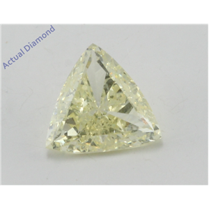 Trillion Cut Loose Diamond (1.15 Ct, natural fancy yellow Color, si1 clarity enhanced) IGL Certified